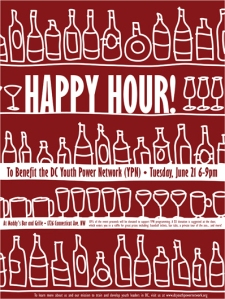 Happy Hour Fundraiser Flyer for June 21, 2011